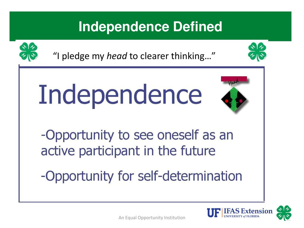 define promoting independence