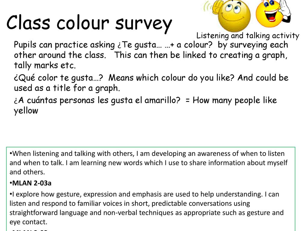 Spanish Second Level Colours  - ppt download