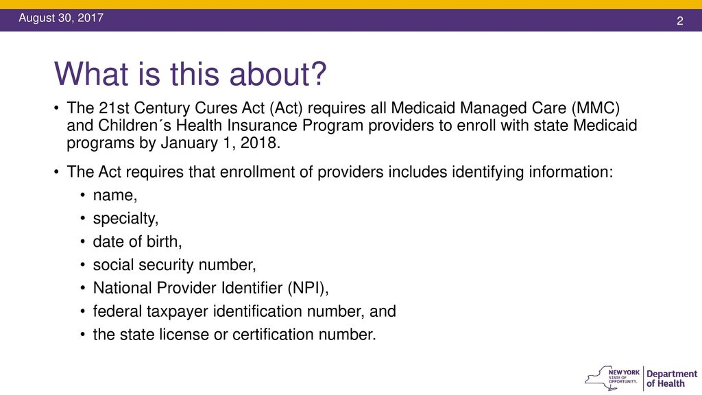 Enrollment of Medicaid Managed Care and Children's Health Insurance