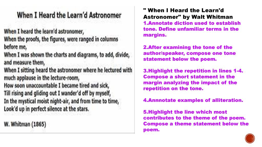 when i heard the learn d astronomer poem