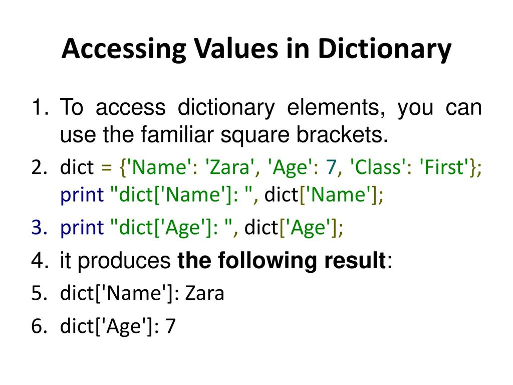 10 - Python Dictionary John R  Woodward  - ppt download