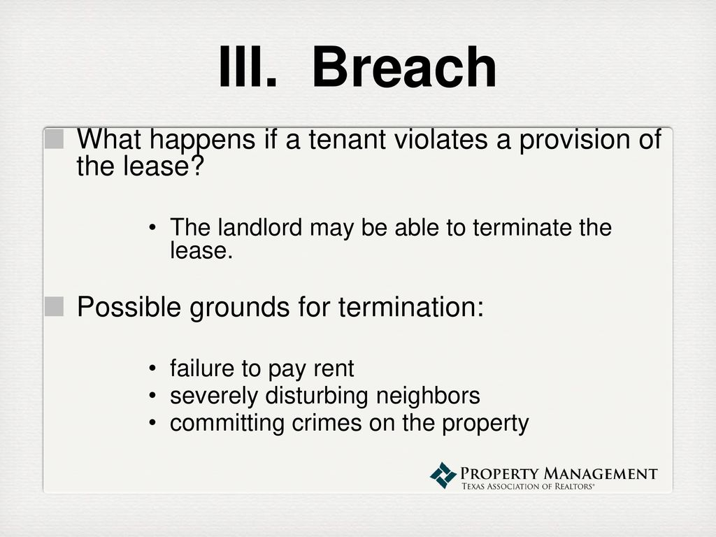 property management webinar series lease termination special