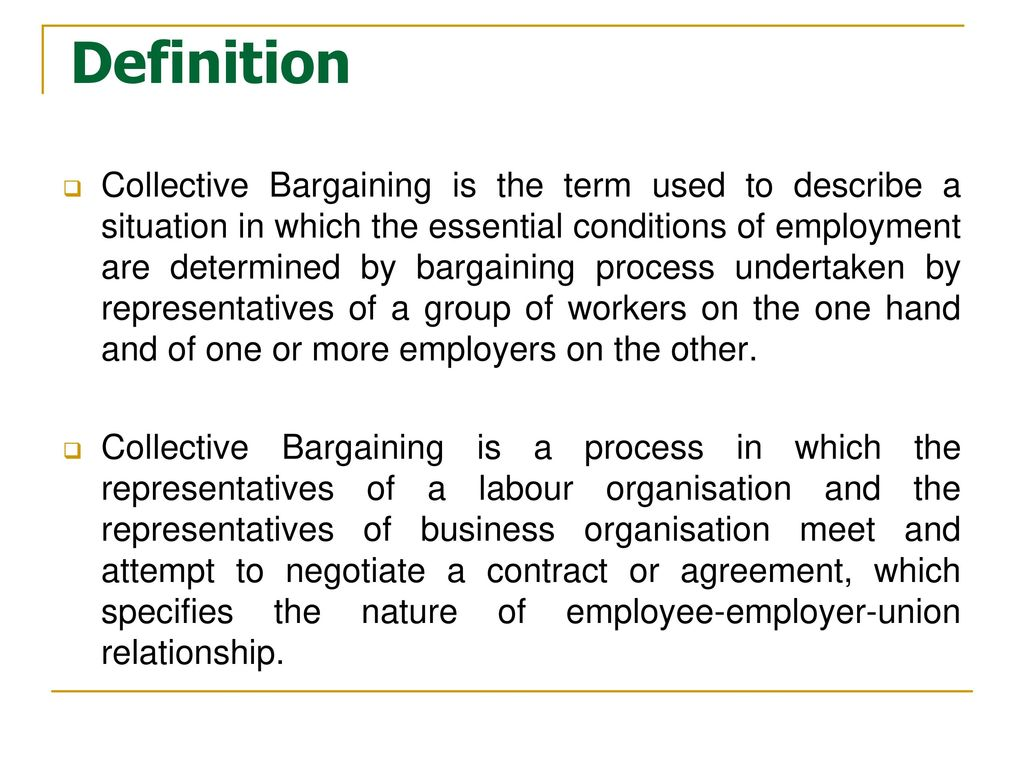 an introduction to the process of collective bargaining - ppt download