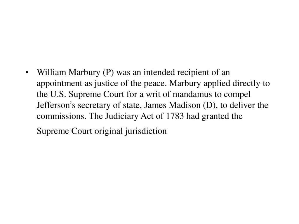 Marbury V Madison 1803 Ppt Download