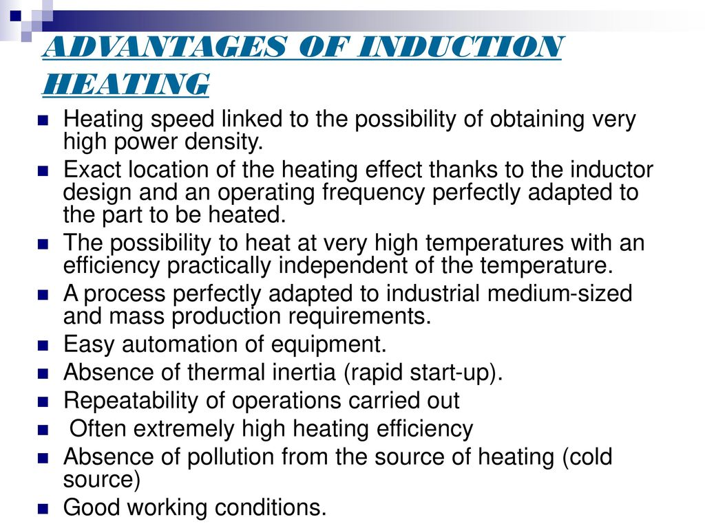 Application Induction Heating Ppt Download Simple Heater Circuit Advantages Of
