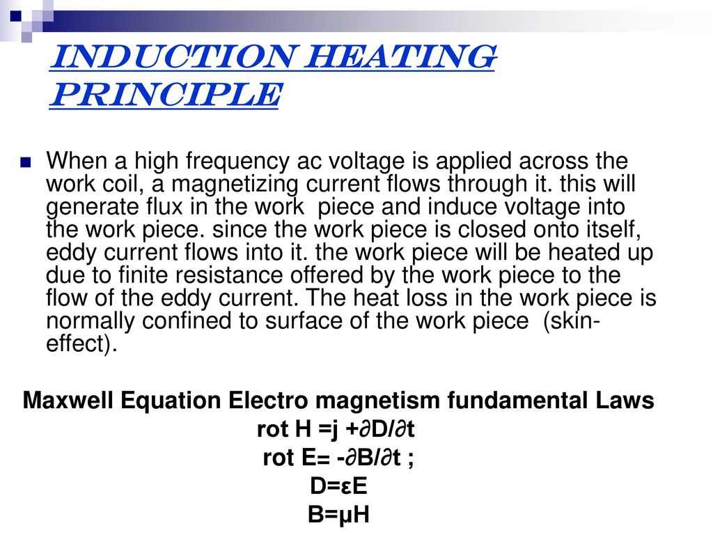 High-frequency induction heating. Calculation of induction heating
