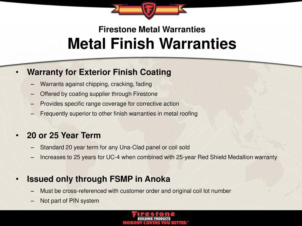 Firestone Metal Warranties Ppt Download