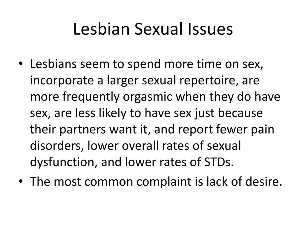 Lesbian sex issues