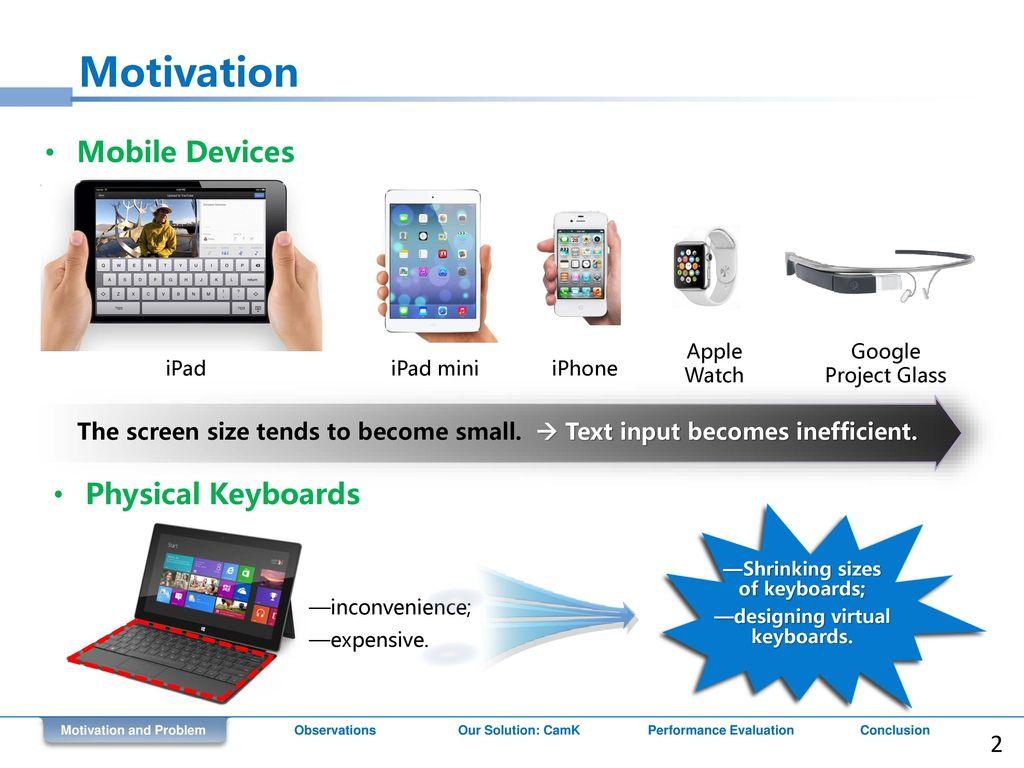 CamK: a Camera-based Keyboard for Small Mobile Devices - ppt download