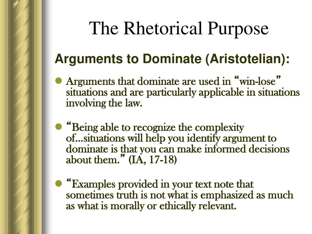 rhetorical purpose examples