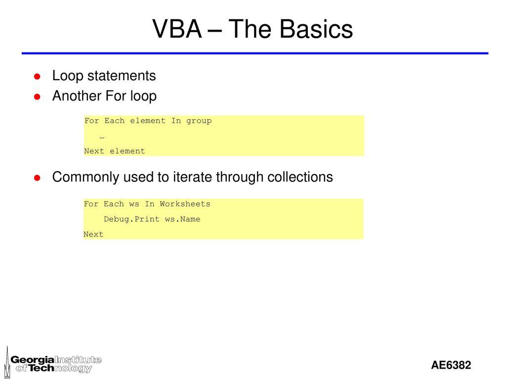 Vba excel vba is visual basic for applications ppt download 21 vba ibookread Read Online