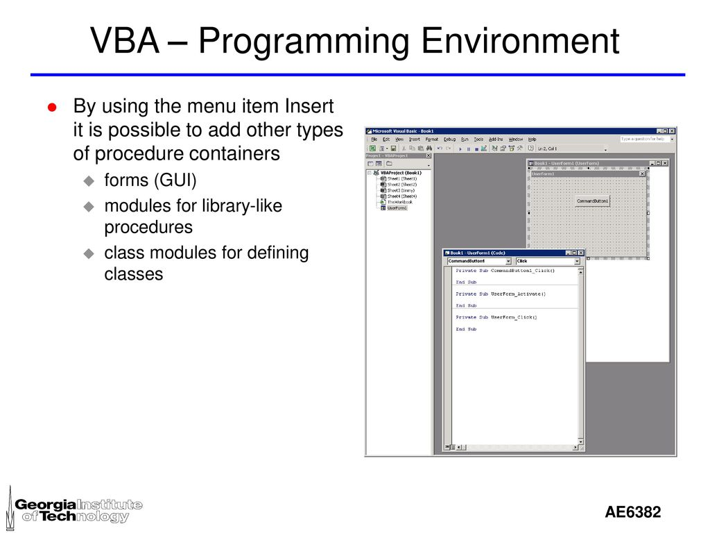 VBA - Excel VBA is Visual Basic for Applications - ppt download