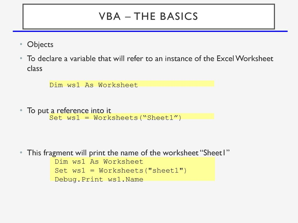 Vba excel vba is visual basic for applications ppt download 12 vba the basics objects ibookread PDF