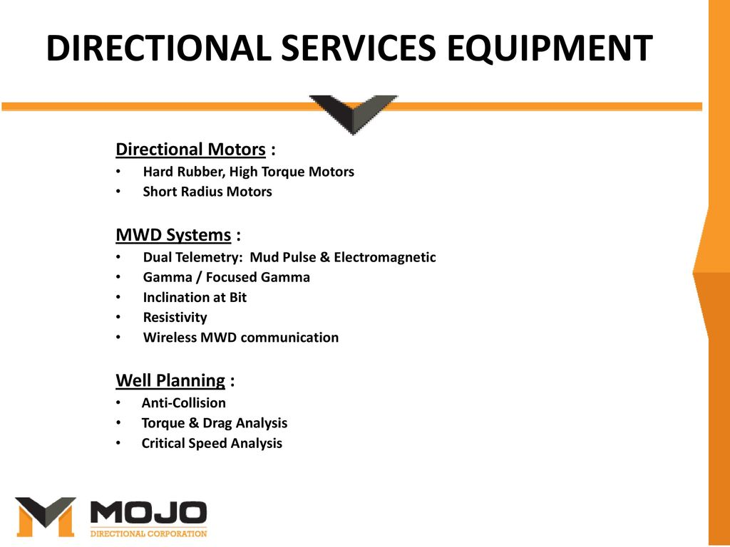 MOJO Directional Corporation - ppt download