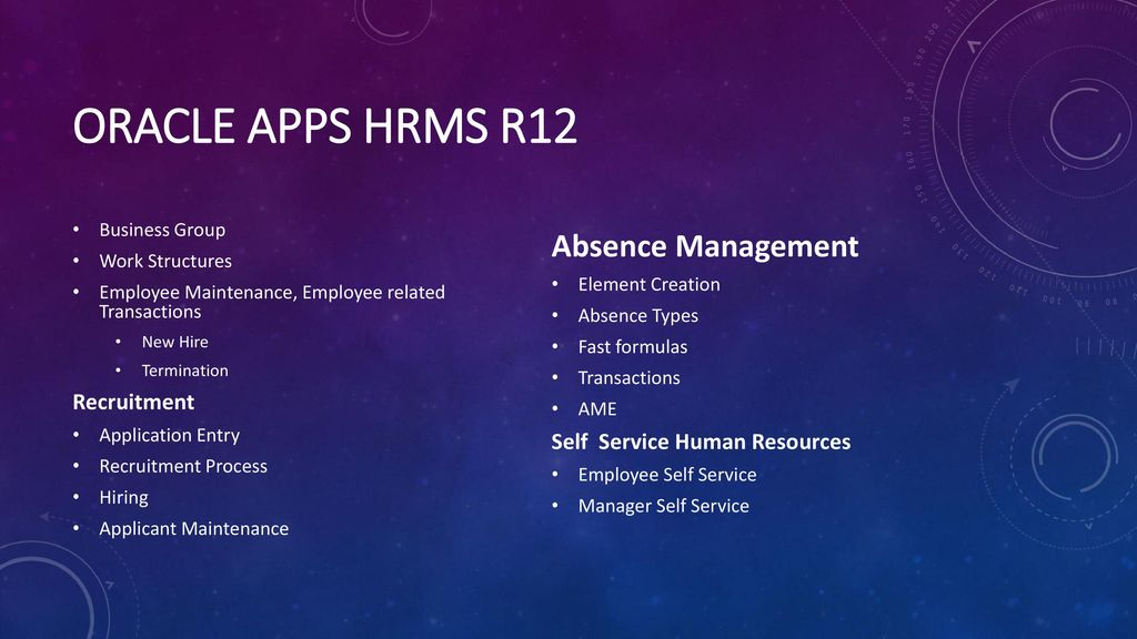 TECHLEADS IT Oracle Apps HRMS R12 - ppt download