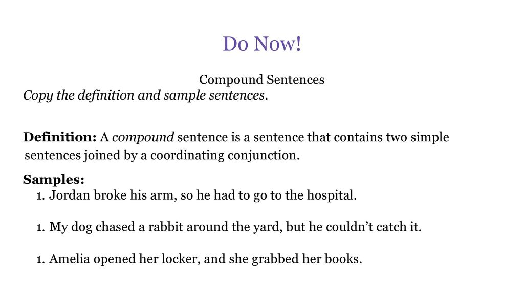 Simple, compound and complex sentences in your writing ppt video.