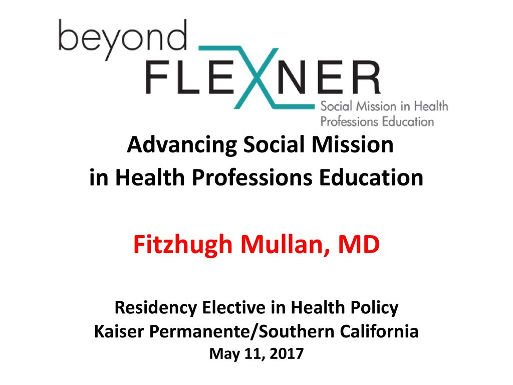 Advancing Social Mission in Health Professions Education