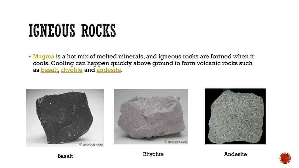List the 3 types of rocks Describe how they are formed - ppt