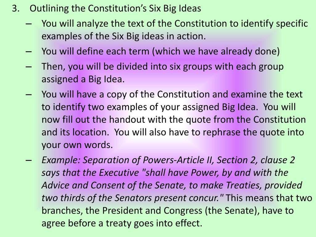 outlining the constitution - ppt download