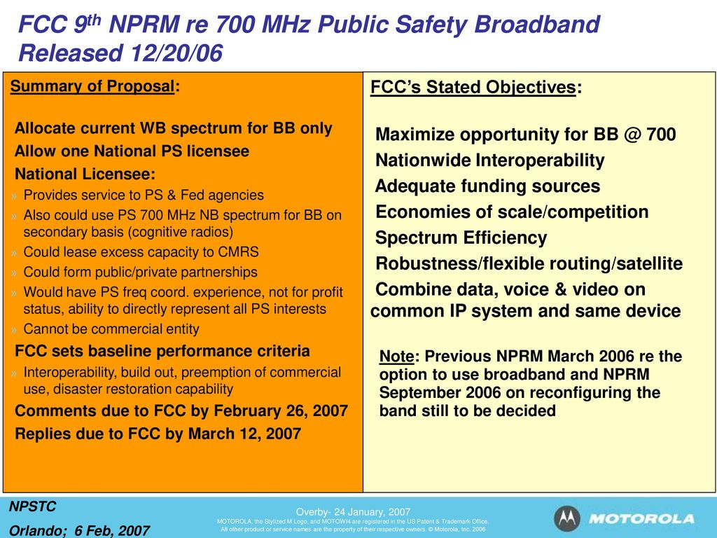 FCC 9th NPRM Re 700 MHz Public Safety Broadband Released 12 20 06