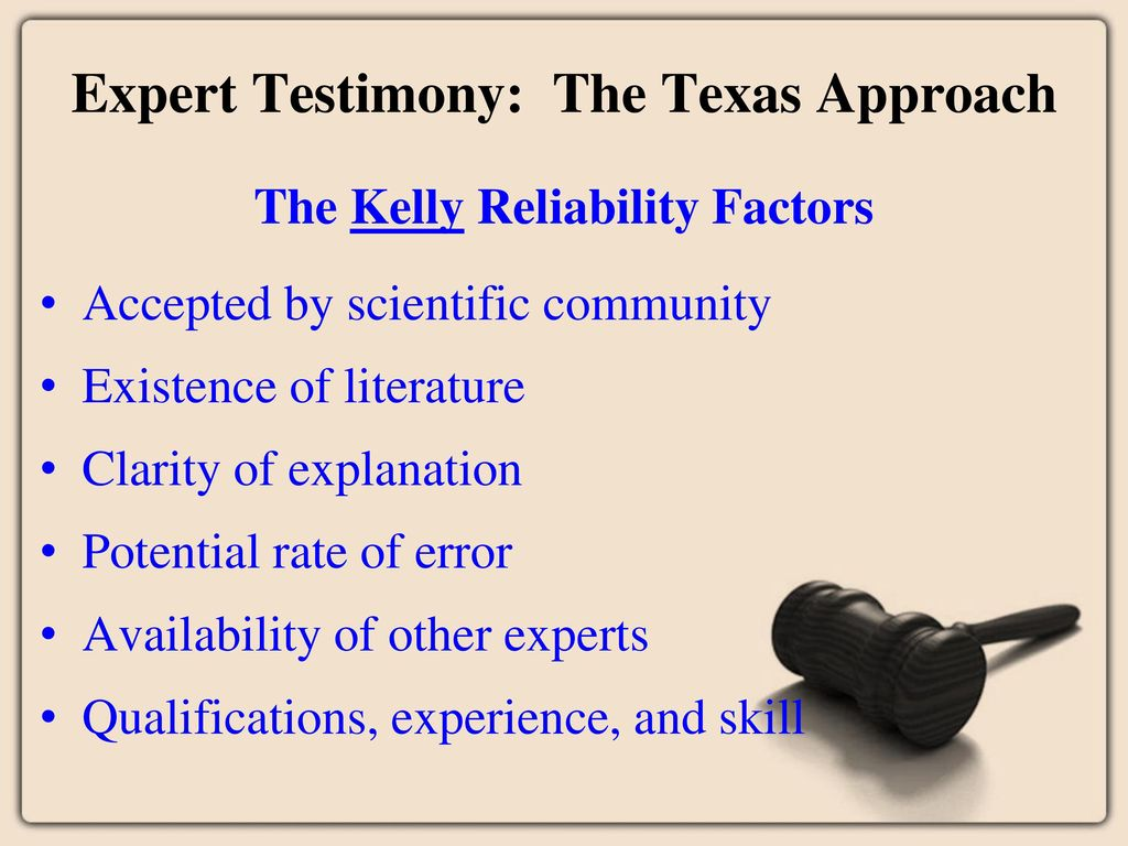 what is expert testimony in literature
