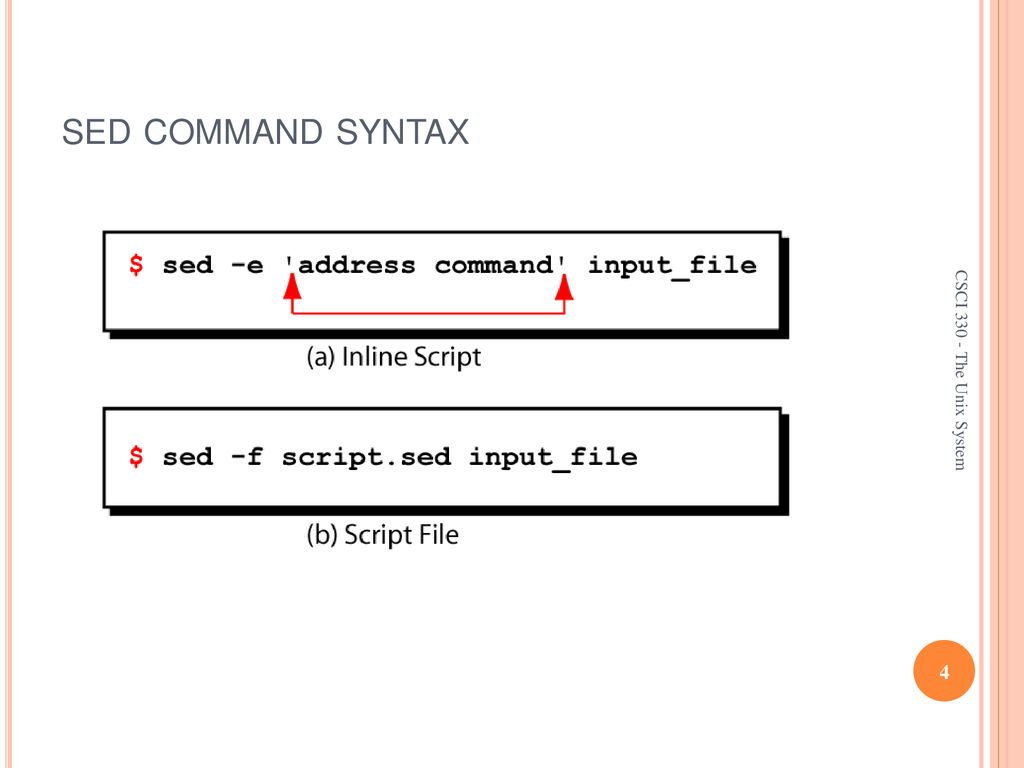 CSCI The UNIX System sed - Stream Editor - ppt download