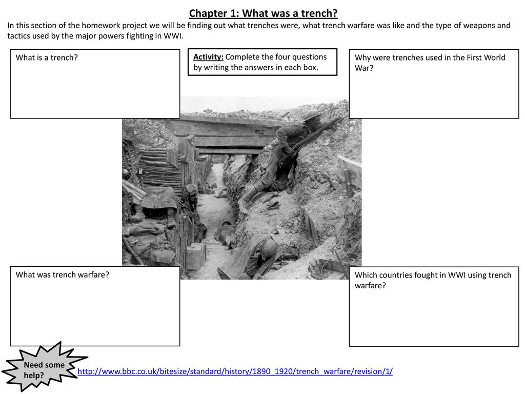 chapter 1: what was a trench