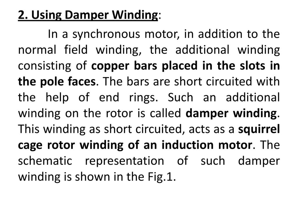 Induction Motors Ppt Download Phasemotorwindingdiagram Motor Cutaway Besides 3 Phase Using Damper Winding 33 Once The Rotor Is Excited By A Three Supply