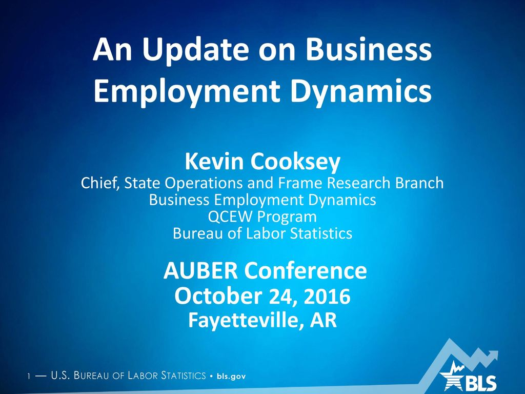 An Update on Business Employment Dynamics - ppt download on