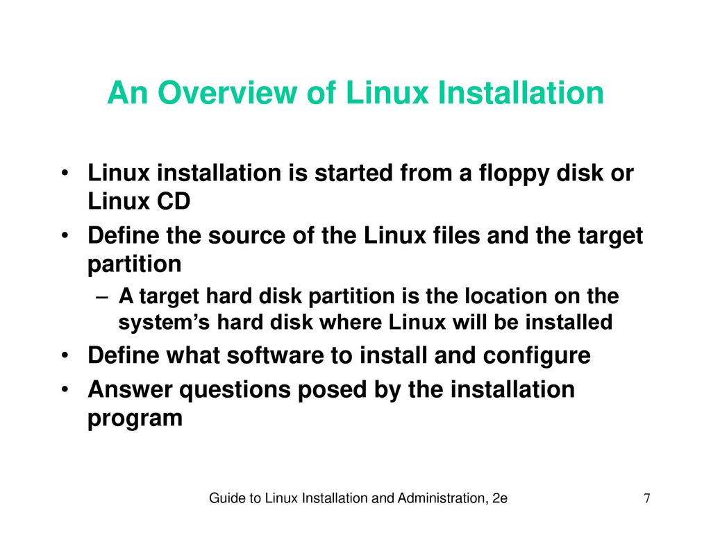 Guide To Linux Installation And Administration 2e Ppt Download