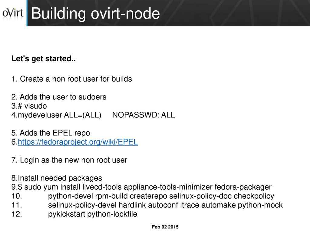 Build process of ovirt-node and the plugins - ppt download
