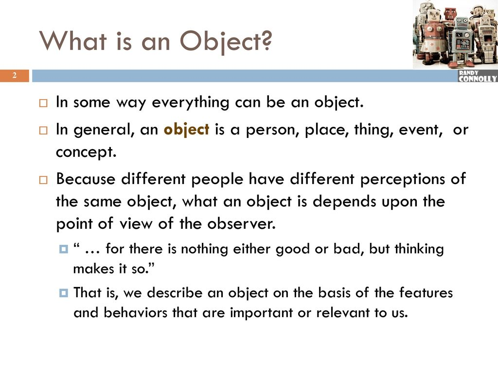 What is an object? 66