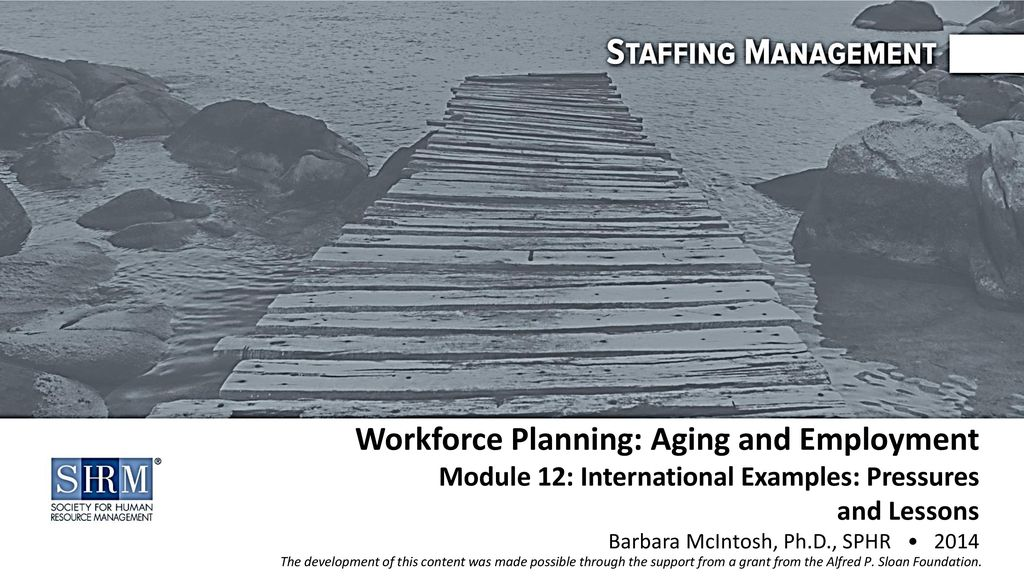 Workforce Planning: Aging and Employment Module 12