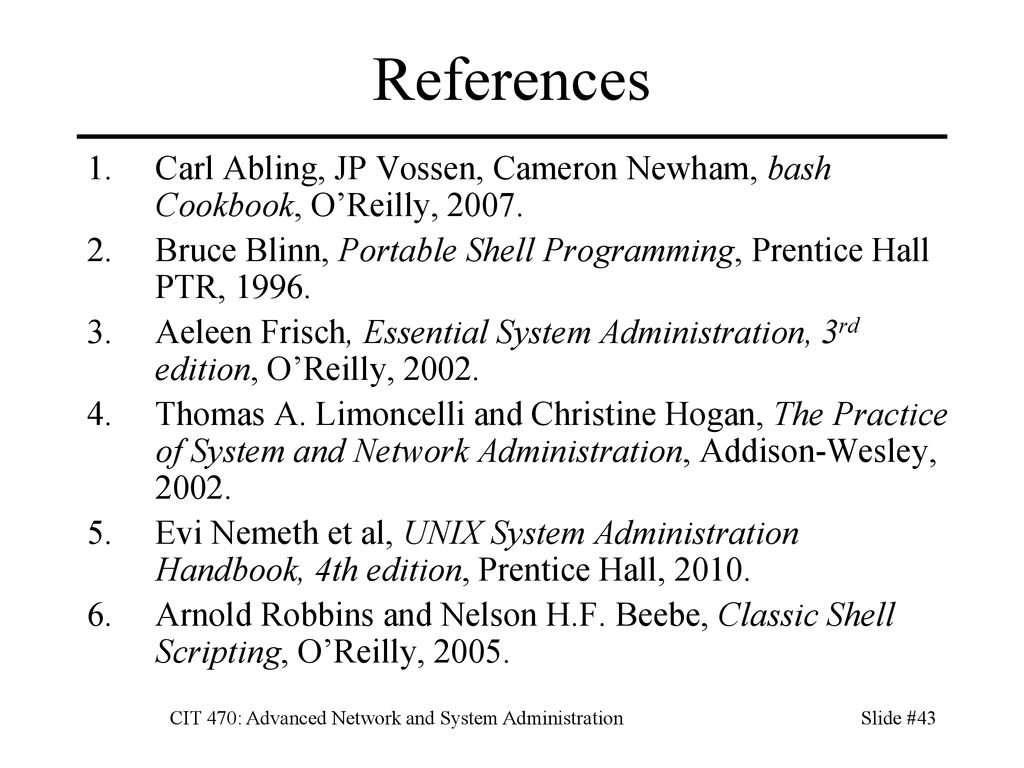CIT 470: Advanced Network and System Administration - ppt