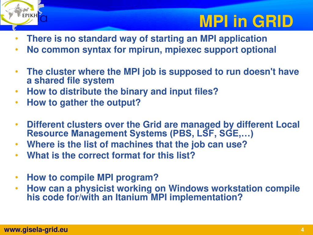 MPI Applications with the Grid Engine - ppt download