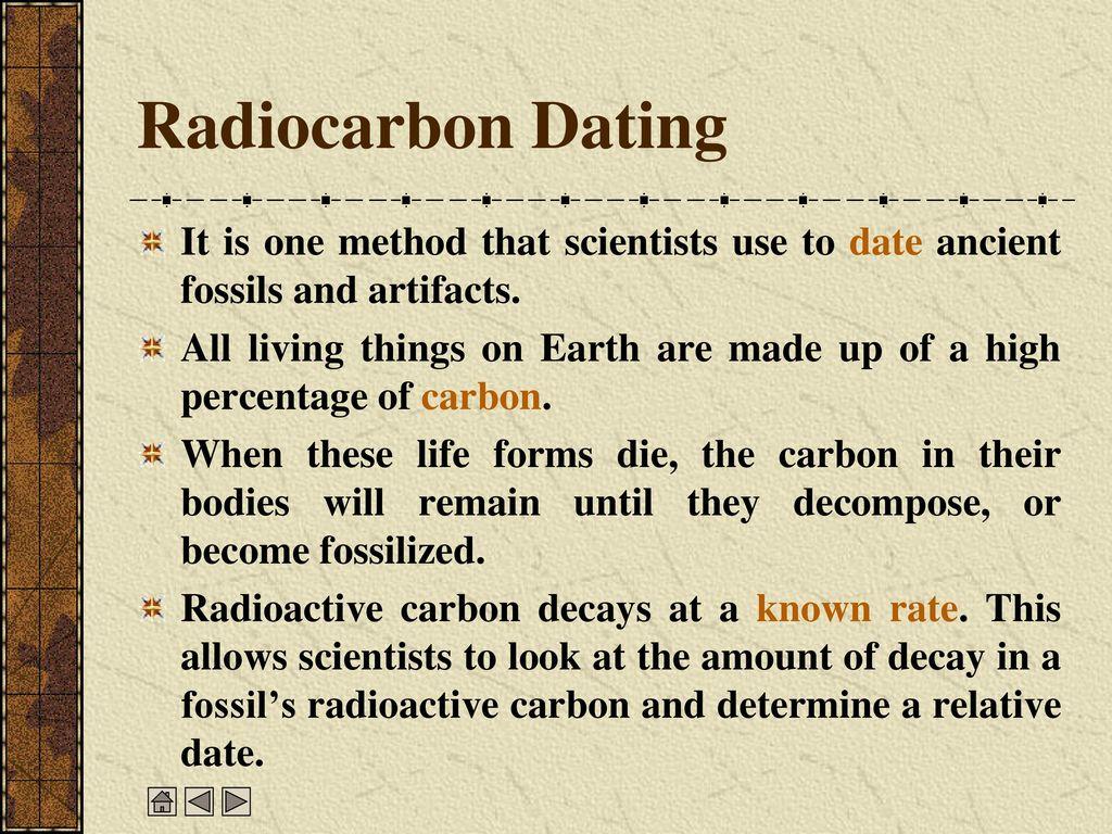 Radiocarbon dating usage