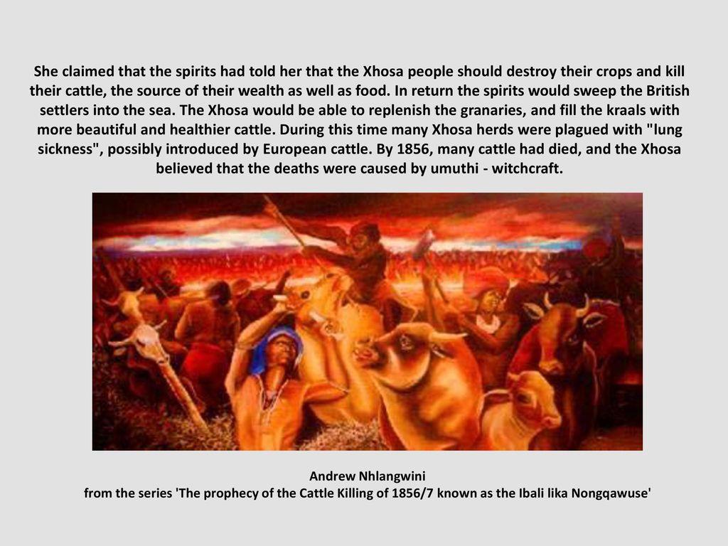 Xhosa cattle-killing Nongqawuse 1856–1857 Clarita-Efraim pps