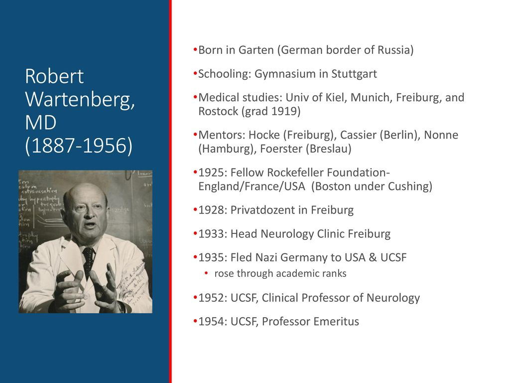 History of Neurology West Coast Neurology: The 3 Bob's of UCSF - ppt