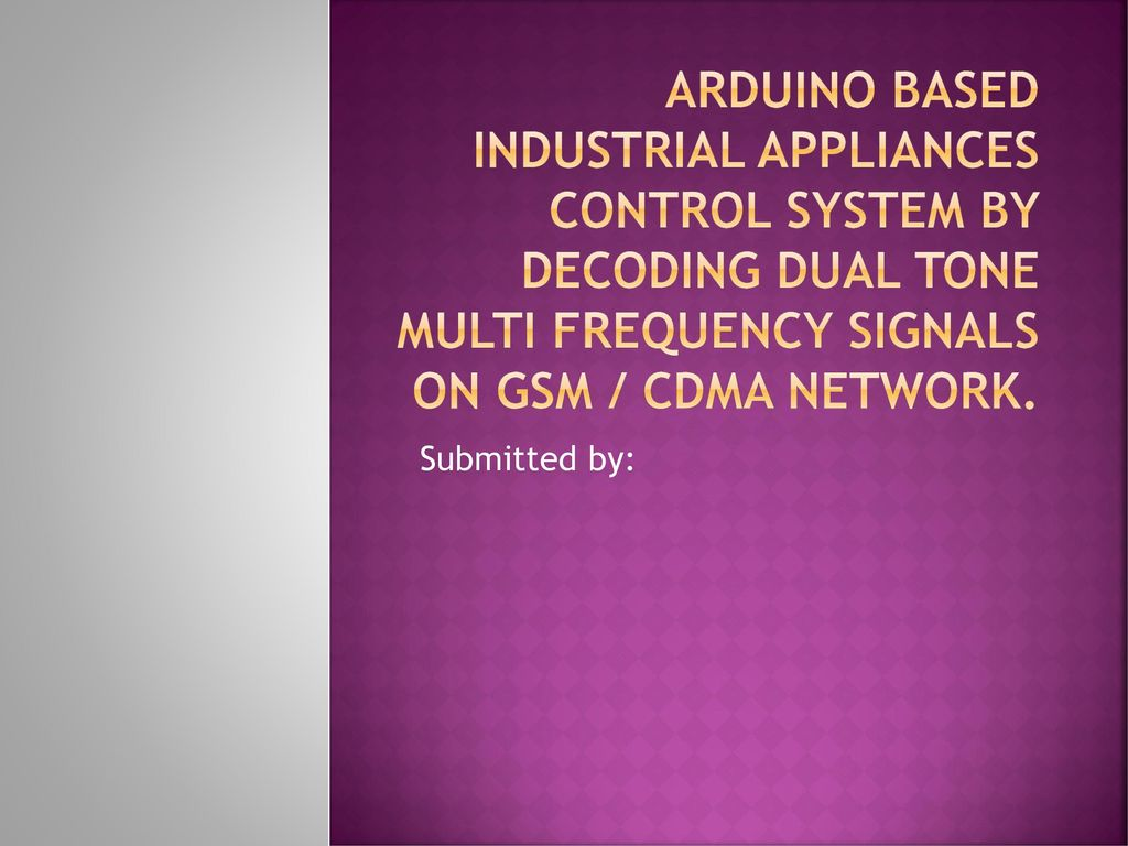 Arduino Based Industrial appliances control system by decoding dual