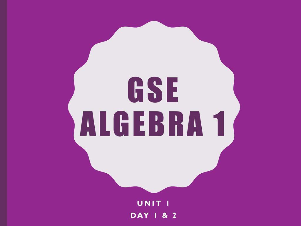 Gse Algebra 1 Unit 1 Relationships Among Quantities Answer Key