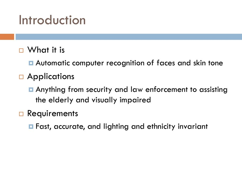 Introduction to Skin and Face Detection - ppt download