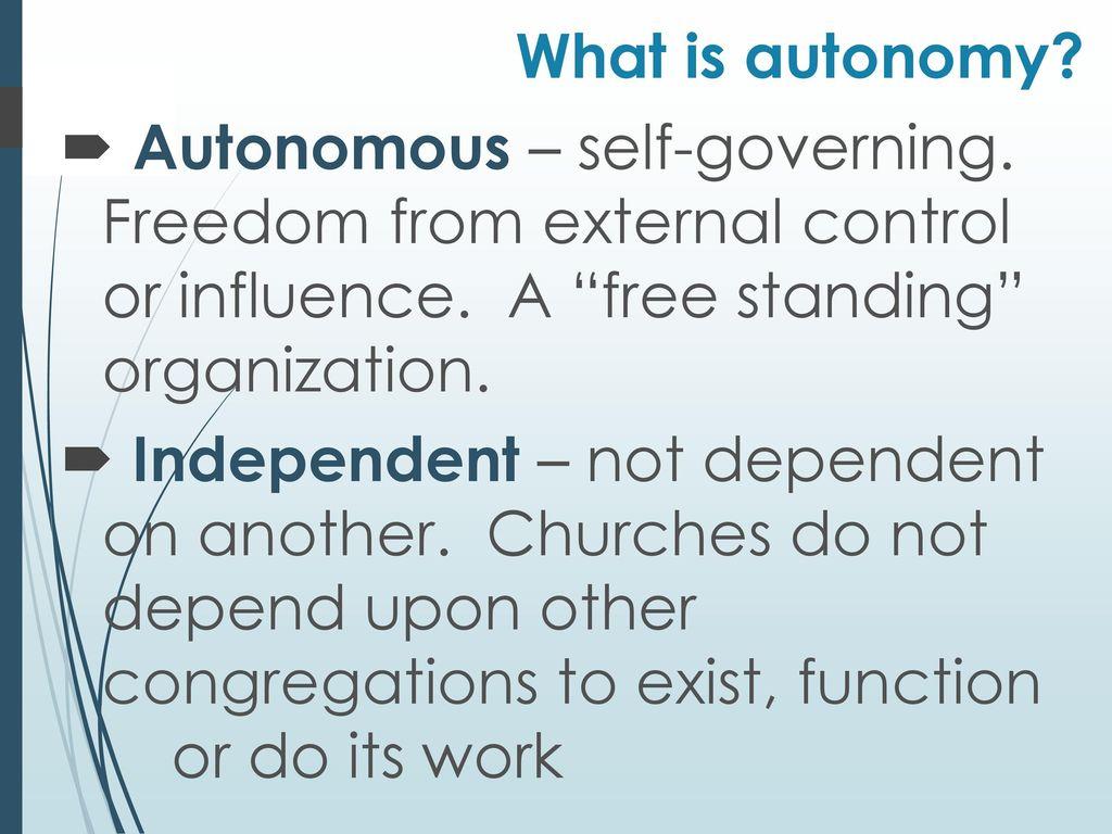 What is autonomy 35