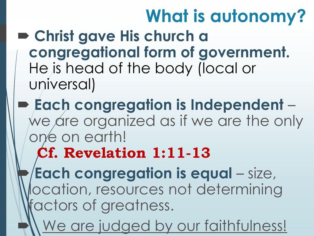 What is autonomy 89