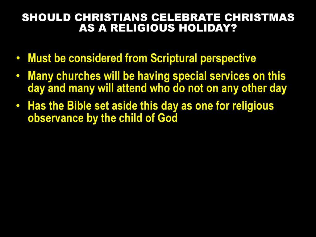 2 should christians