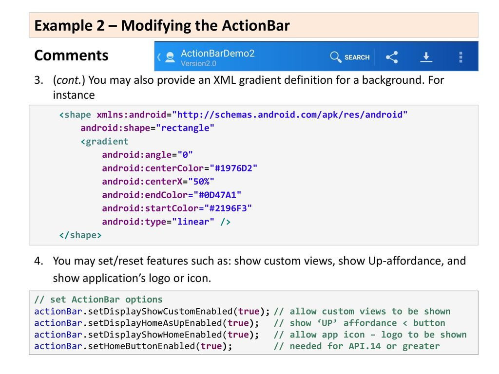 ActionBars, Menus, Toolbars - ppt download