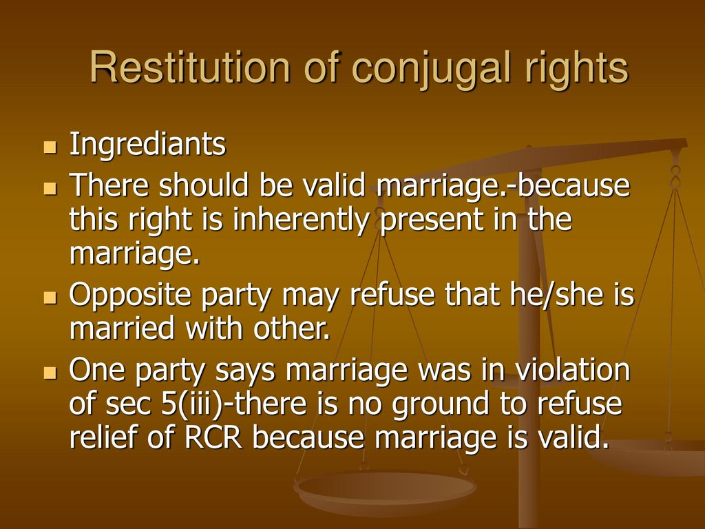 conjugal rights in marriage