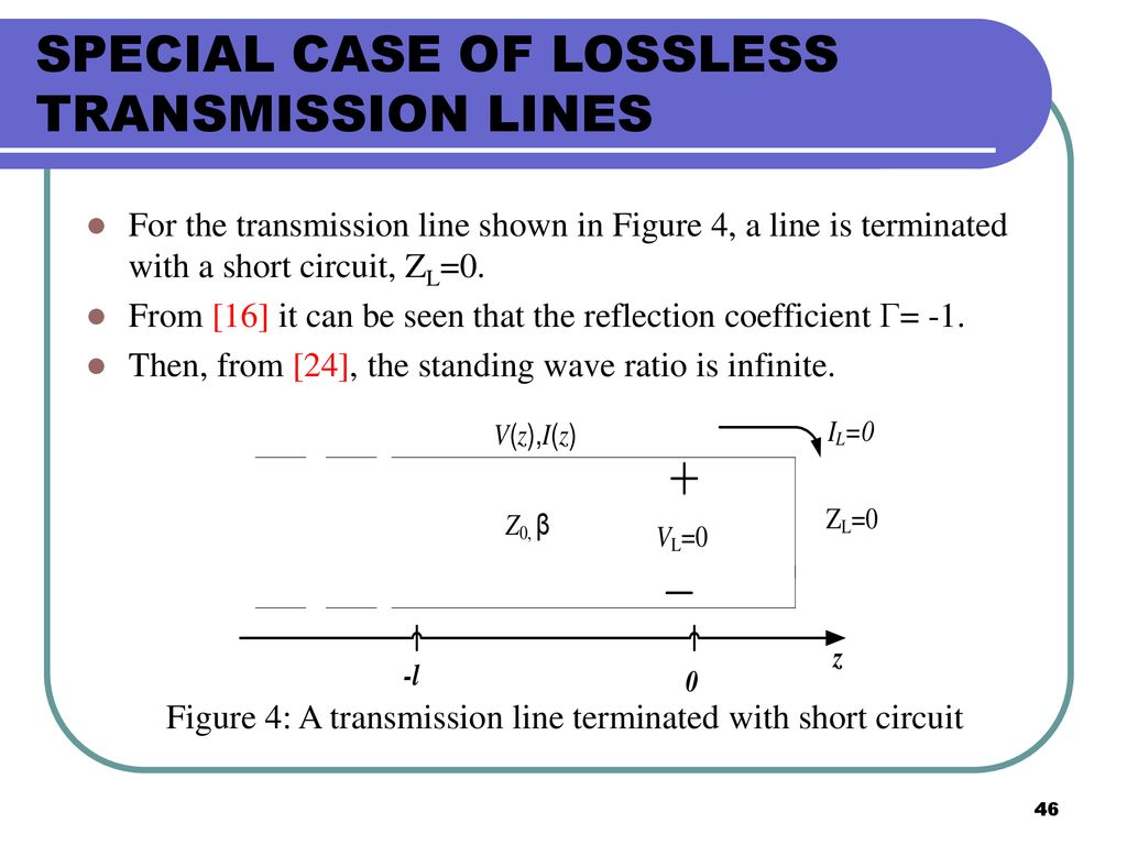 Ekt 441 Microwave Communications Ppt Download Short Circuit Transmission Line Special Case Of Lossless Lines