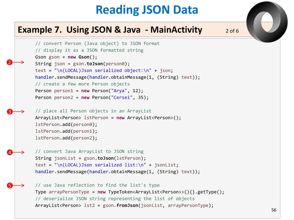 convert arraylist to json string android