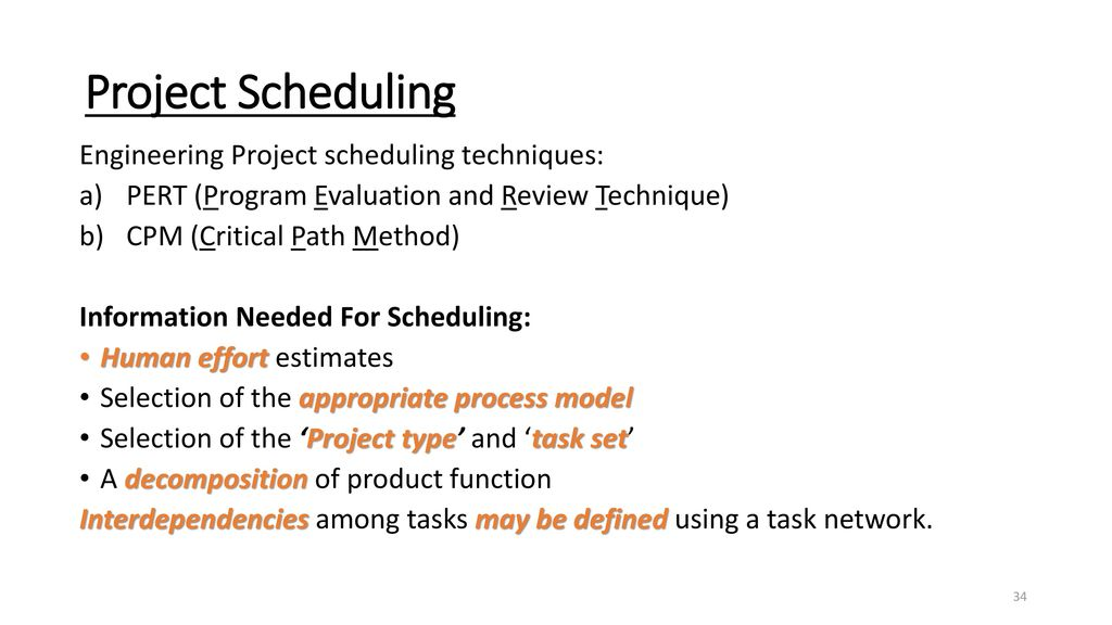 Project Scheduling and Tracking - ppt download