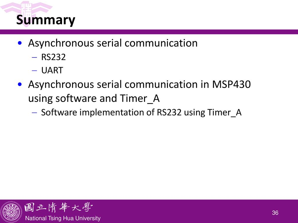 CS4101 嵌入式系統概論 Serial Communication - ppt download